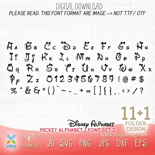 alphabet disney svg