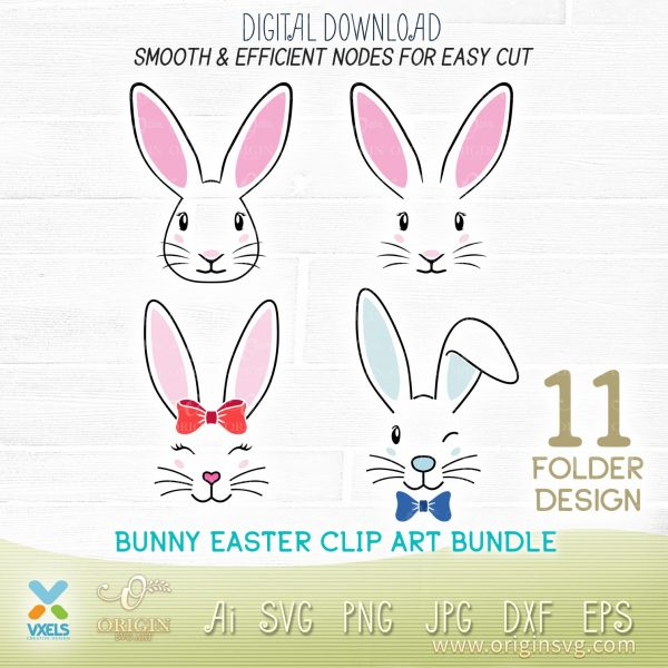 easter bunny cutting file