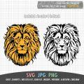 lion face design 2