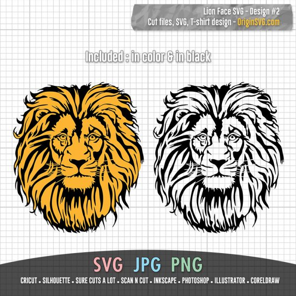lion face design 2