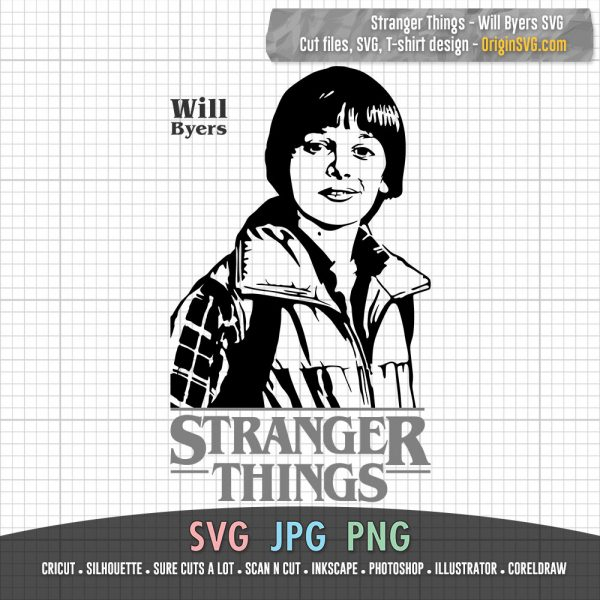 Stranger Things Will Byers SVG