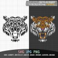 tiger face SVG