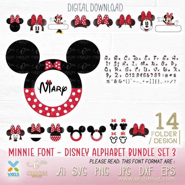 disney alphabet minnie