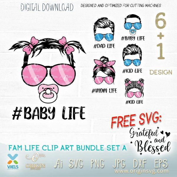 baby girl life svg