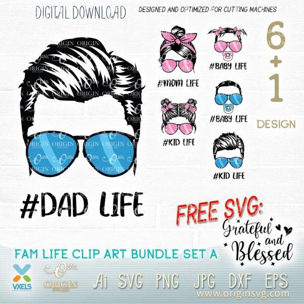 daddy life svg