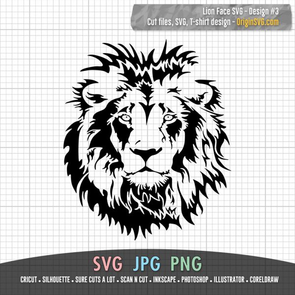 lion face SVG