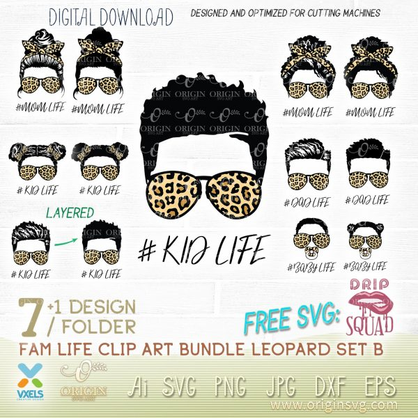 afro kid life leopard