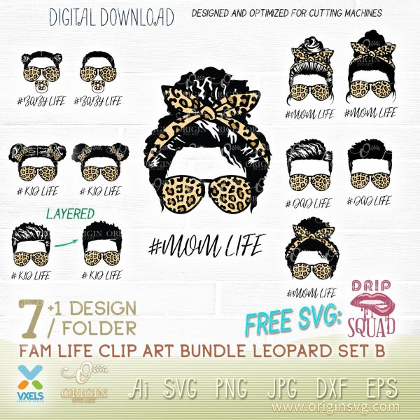 mom life afro svg