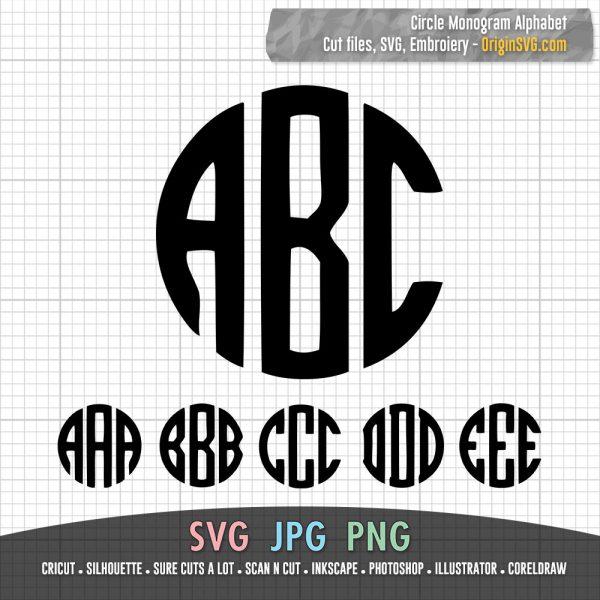 circle monogram ABC alphabet letters