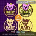 Pinkfong baby on board sticker cute