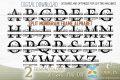 monogram alphabet svg