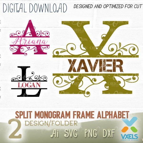 letter frame svg