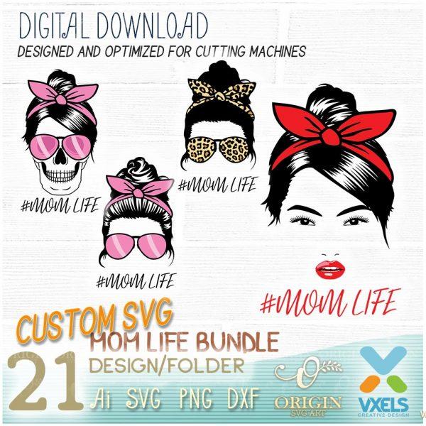 mommy life custom svg