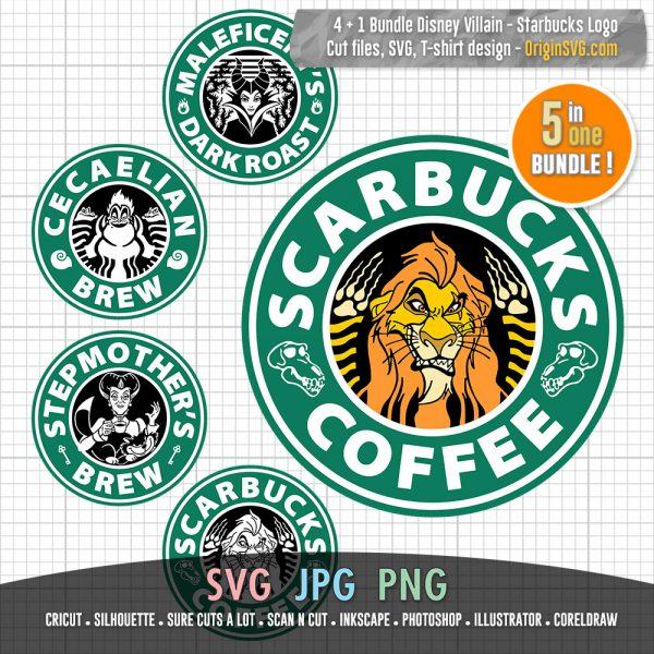 disney villain starbucks logo