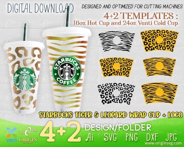 leopard starbucks cut file
