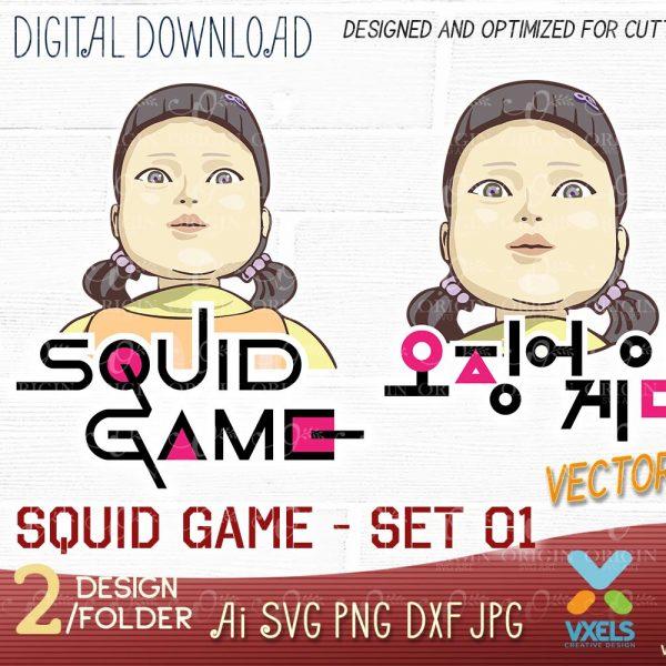 squid game svg art